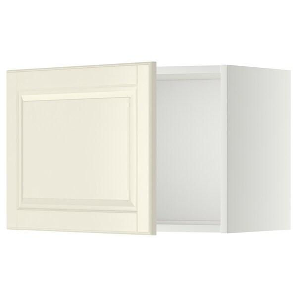 METOD Seinäkaappi, valkoinen/Bodbyn luonnonvalkoinen, 60x40 cm