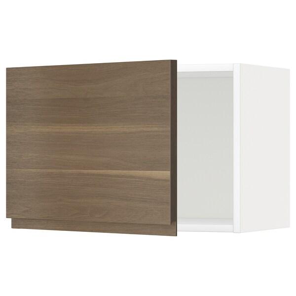 METOD Seinäkaappi, valkoinen/Voxtorp pähkinäpuukuvio, 60x40 cm
