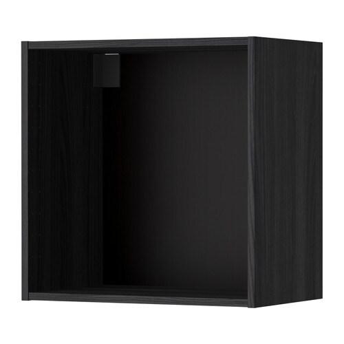 METOD Seinäkaapin runko  puukuvioitu musta, 60x37x60 cm  IKEA