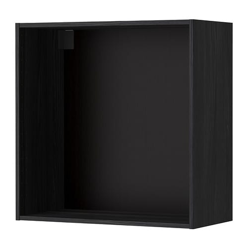 METOD Seinäkaapin runko  puukuvioitu musta, 80x37x80 cm  IKEA