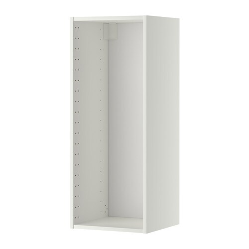 METOD Seinäkaapin runko  valkoinen, 40x37x100 cm  IKEA