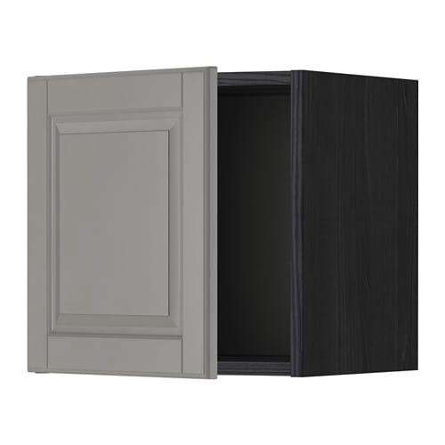 METOD Seinäkaappi  puukuvioitu musta, Bodbyn harmaa, 40×40 cm  IKEA