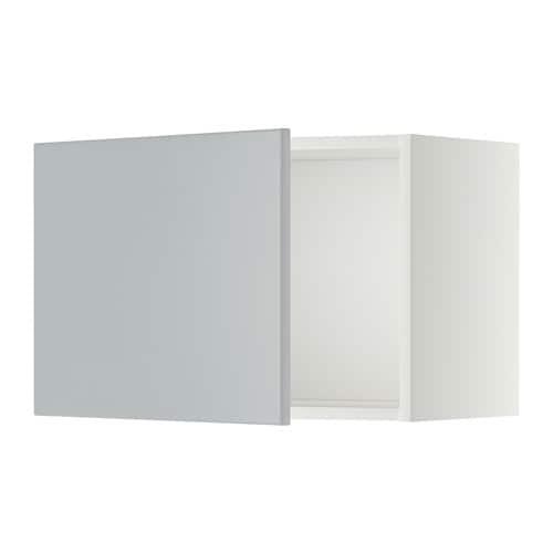 METOD Seinäkaappi  valkoinen, Veddinge harmaa, 60×40 cm