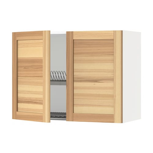 METOD Seinäkaappi + kuivausteline 2 ovea  valkoinen
