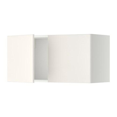 METOD Seinäkaappi 2 ovea  valkoinen, Veddinge valkoinen  IKEA