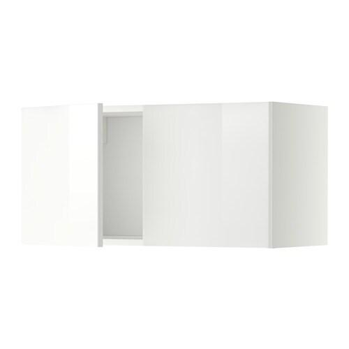 METOD Seinäkaappi 2 ovea  valkoinen, Ringhult