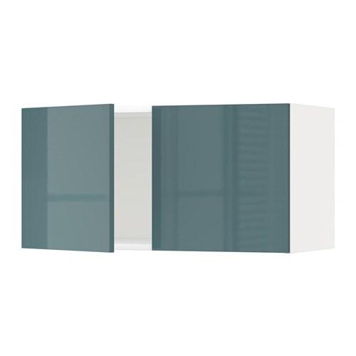 METOD Seinäkaappi 2 ovea  valkoinen, Kallarp korkeakiilto