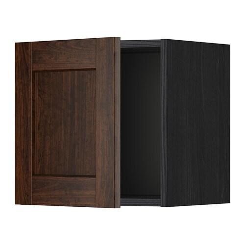 METOD Seinäkaappi  puukuvioitu musta, Edserum puukuvioitu ruskea, 40×40 cm