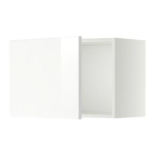 METOD Seinäkaappi  valkoinen, Ringhult korkeakiilto valkoinen, 60×40 cm  IKEA