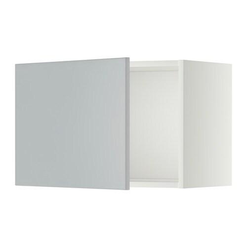 METOD Seinäkaappi  valkoinen, Veddinge harmaa, 60×40 cm  IKEA