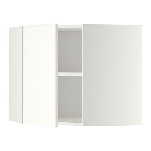 METOD Seinäkulmakaappi, hyllyt  valkoinen, Häggeby valkoinen, 68×60 cm  IKEA