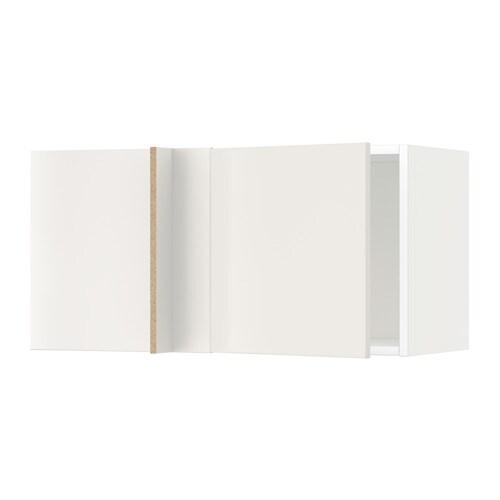 METOD Seinäkulmakaappi  valkoinen, Veddinge valkoinen  IKEA