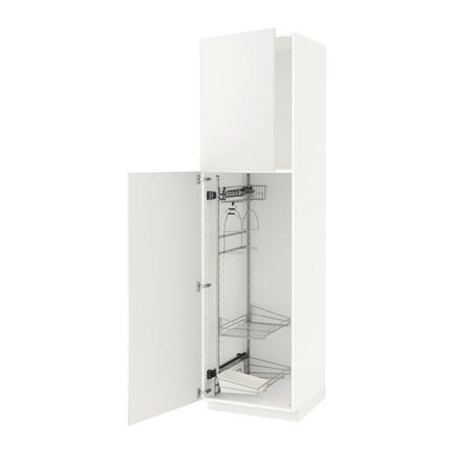 METOD Siivouskaappi  valkoinen, Häggeby valkoinen, 60x60x220 cm  IKEA
