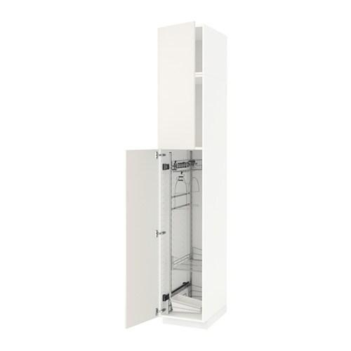 METOD Siivouskaappi  valkoinen, Veddinge valkoinen, 40x60x240 cm  IKEA