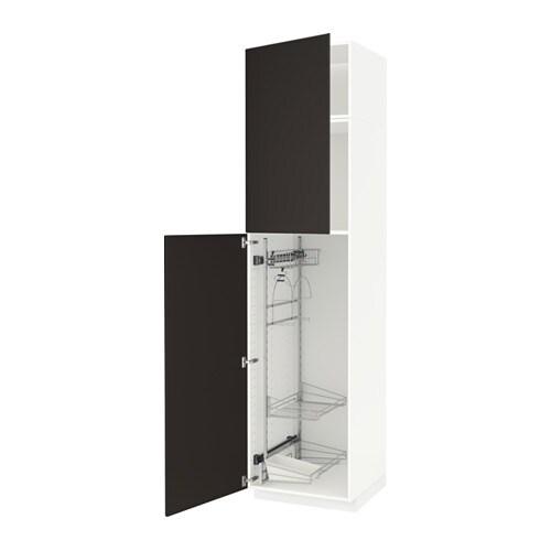 METOD Siivouskaappi  valkoinen, Kungsbacka antrasiitti, 60x60x240 cm  IKEA