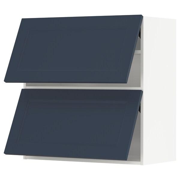 METOD Vaakasuunt seinäkaappi 2 o ponns, valkoinen Axstad/matta sininen, 80x80 cm