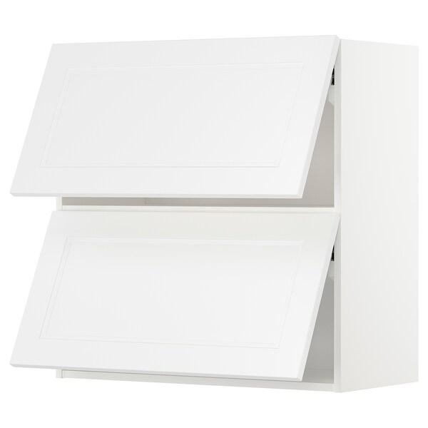 METOD Vaakasuunt seinäkaappi 2 o ponns, valkoinen/Axstad matta valkoinen, 80x80 cm