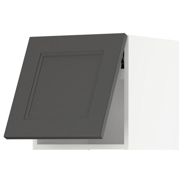 METOD Vaakasuuntainen seinäkaappi ponnsal, valkoinen/Axstad tummanharmaa, 40x40 cm