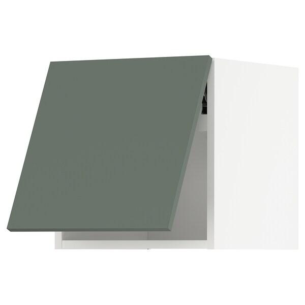 METOD Vaakasuuntainen seinäkaappi ponnsal, valkoinen/Bodarp harmaanvihreä, 40x40 cm
