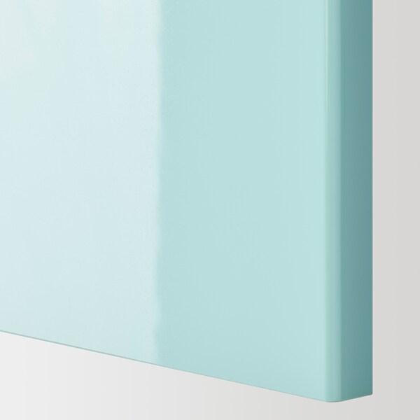 METOD Vaakasuuntainen seinäkaappi ponnsal, valkoinen Järsta/korkeakiilto vaalea turkoosi, 40x40 cm
