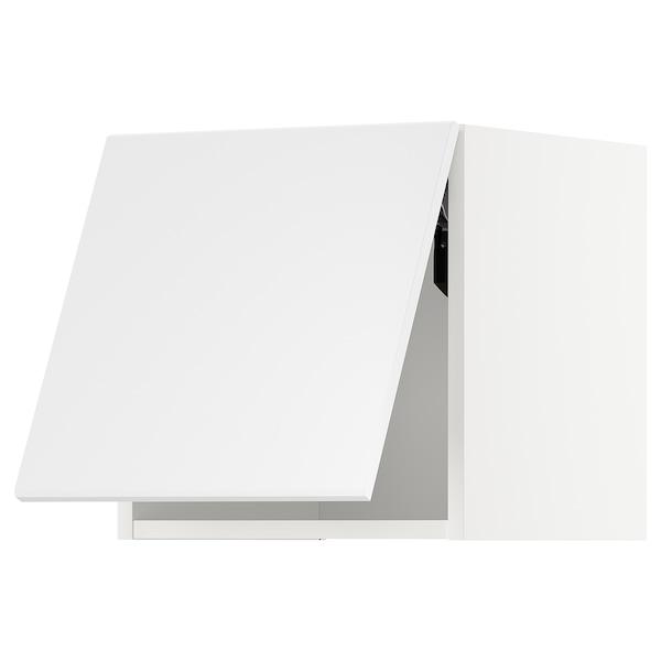 METOD Vaakasuuntainen seinäkaappi ponnsal, valkoinen/Kungsbacka matta valkoinen, 40x40 cm