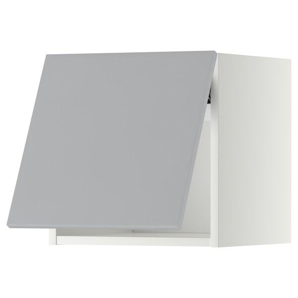METOD Vaakasuuntainen seinäkaappi ponnsal, valkoinen/Veddinge harmaa, 40x40 cm