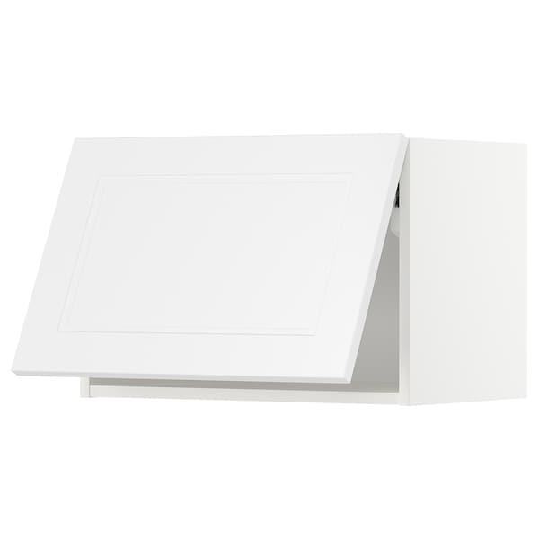 METOD Vaakasuuntainen seinäkaappi, valkoinen/Axstad matta valkoinen, 60x40 cm
