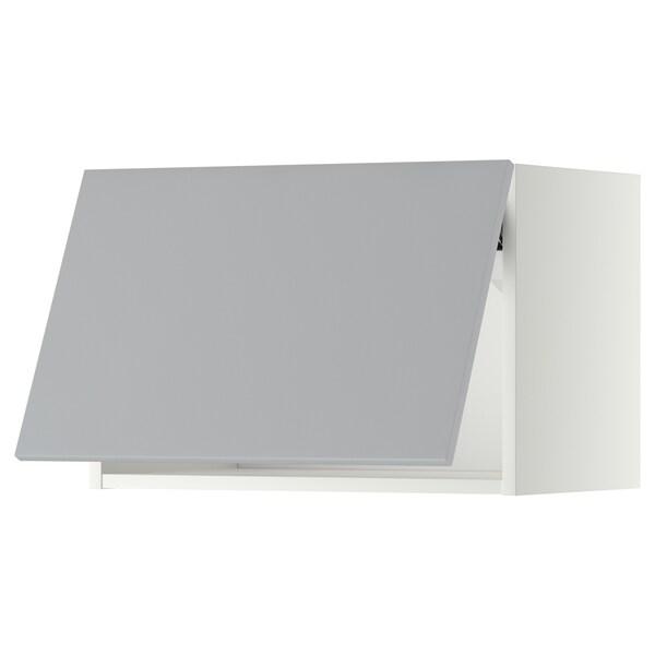 METOD Vaakasuuntainen seinäkaappi, valkoinen/Veddinge harmaa, 60x40 cm
