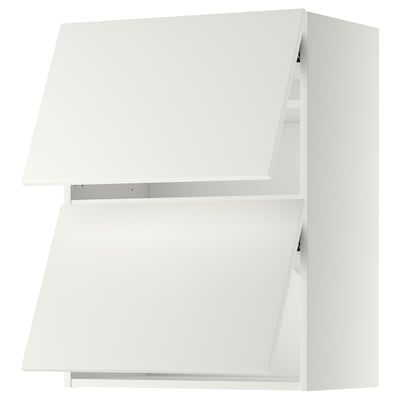 METOD vaakasuuntainen seinäkaappi 2 ovea valkoinen/Häggeby valkoinen 60.0 cm 38.6 cm 80.0 cm