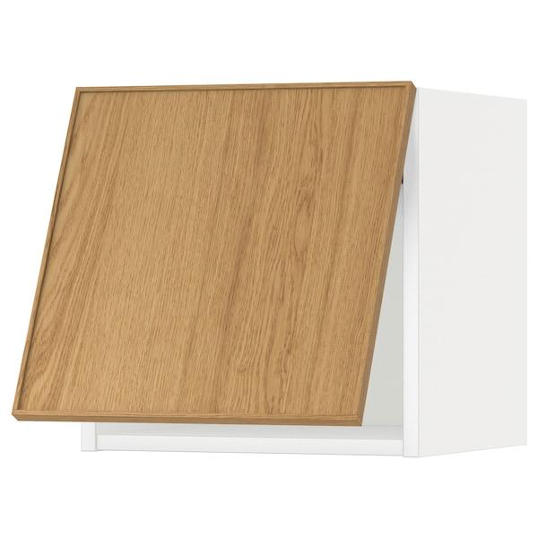 METOD vaakasuuntainen seinäkaappi valkoinen/Ekestad tammi 40.0 cm 38.9 cm 40.0 cm
