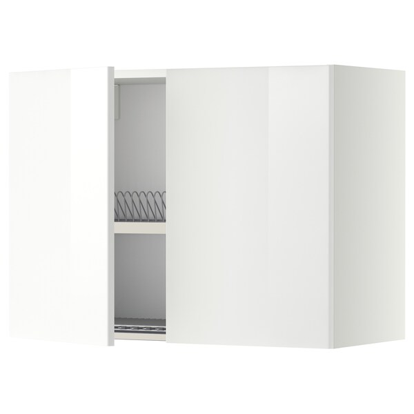 METOD seinäkaappi astiankuivtel/2 o valkoinen/Ringhult valkoinen 80.0 cm 38.8 cm 60.0 cm