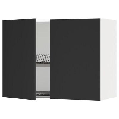 METOD seinäkaappi astiankuivtel/2 o valkoinen/Uddevalla antrasiitti 80.0 cm 38.6 cm 60.0 cm