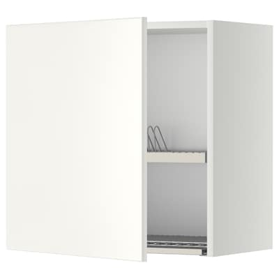METOD seinäkaappi astiankuivaustelineellä valkoinen/Veddinge valkoinen 60.0 cm 38.6 cm 60.0 cm