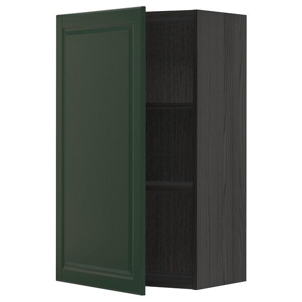 METOD seinäkaappi hyllyillä musta/Bodbyn tummanvihreä 60.0 cm 38.9 cm 100.0 cm