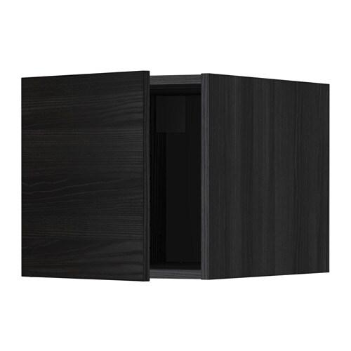 METOD Yläkaappi  puukuvioitu musta, Tingsryd puukuvioitu musta  IKEA