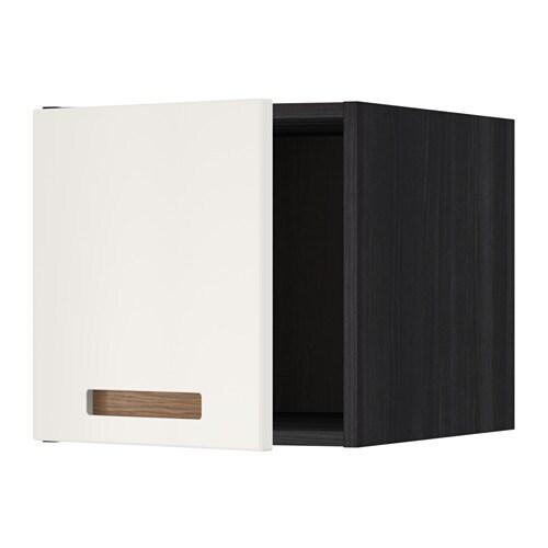 METOD Yläkaappi  puukuvioitu musta, Märsta valkoinen  IKEA