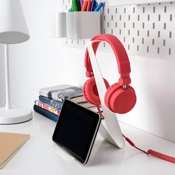 MÖJLIGHET Teline kuulokkeille/tabletille, valkoinen