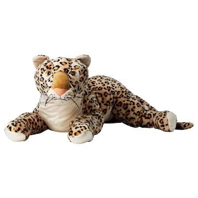 MORRHÅR Pehmolelu, leopardi/beige, 80 cm