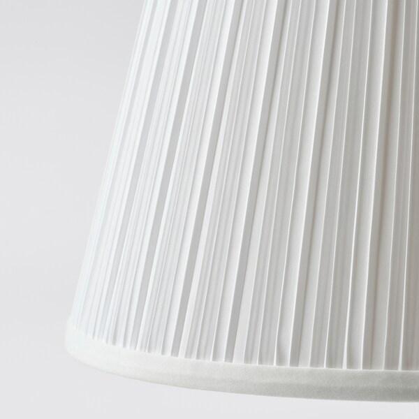 MYRHULT / KRYSSMAST Pöytävalaisin, valkoinen/nikkelöity