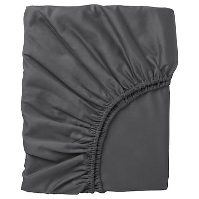 NATTJASMIN Muotoonommeltu lakana, tummanharmaa, 160x200 cm