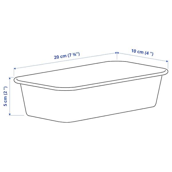 NOJIG Säilytyslaatikko, muovi/beige, 10x20x5 cm