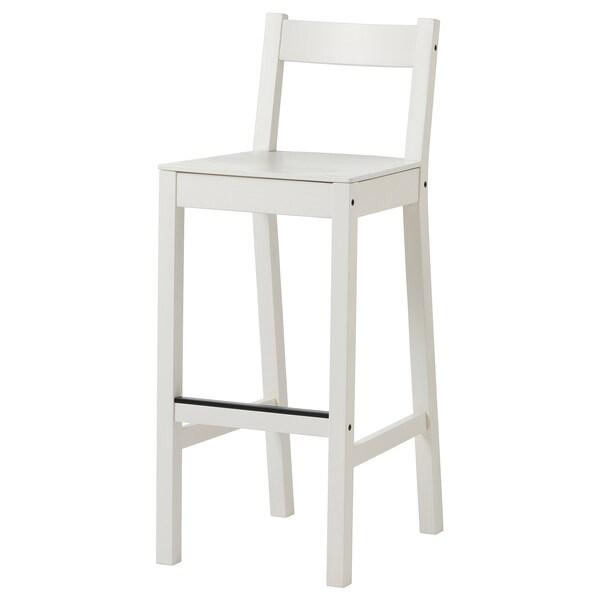 NORDVIKEN Baarituoli, valkoinen, 75 cm