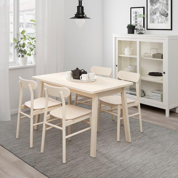 NORRÅKER Pöytä, koivu, 125x74 cm