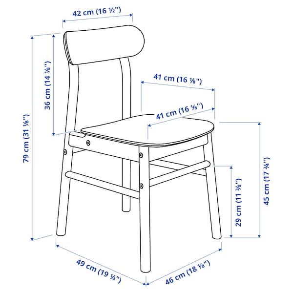 NORRÅKER / RÖNNINGE Pöytä + 4 tuolia, koivu/musta, 125x74 cm