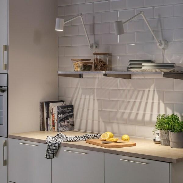 NYMÅNE Työ-/seinävalaisin, valkoinen