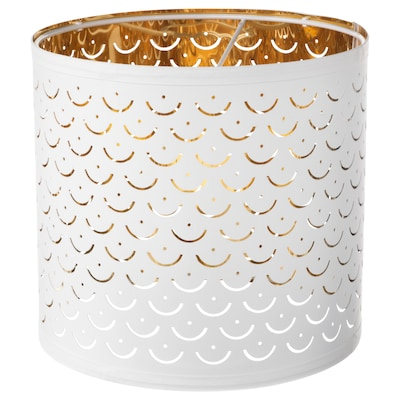 NYMÖ Lampunvarjostin, valkoinen/messinginvärinen, 24 cm