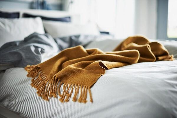 OMTÄNKSAM Huopa, keltainen, 60x160 cm