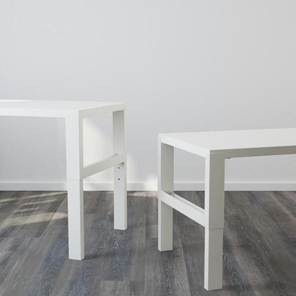 PÅHL Työpöytä + hylly, valkoinen, 96x58 cm