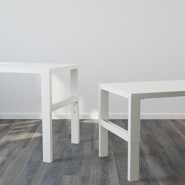 PÅHL Työpöytä+lisäosa, valkoinen, 128x58 cm