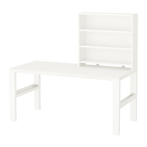 PÅHL Työpöytä + hylly  valkoinen  IKEA